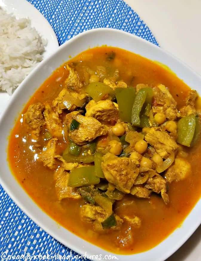 Jamaican Chicken and Chickpea Curry