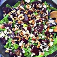 Beet and Feta Salad WITH BALSAMIC VINEGAR