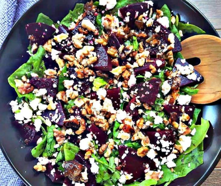 Bursting with flavors this Beet and Feta Salad has sweet tones from the honey balsamic dressing.