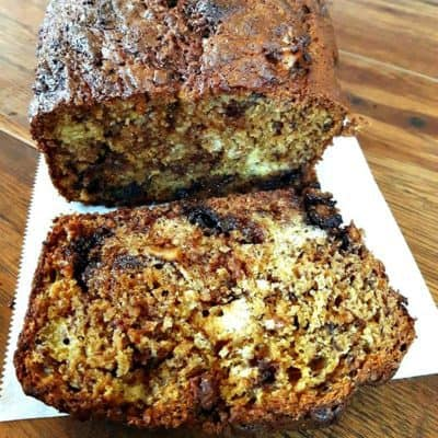 Chocolate Chunk Nut Banana Bread