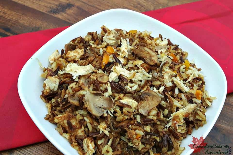 Canadian Wild Rice and Turkey Casserole