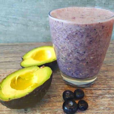 Blueberry Avocado Breakfast Smoothie