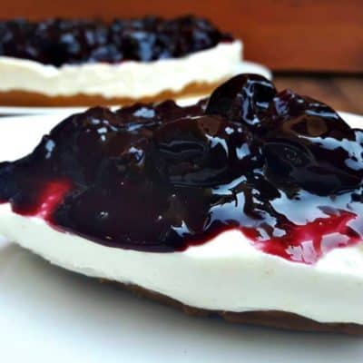 Cherry Cheesecake slice