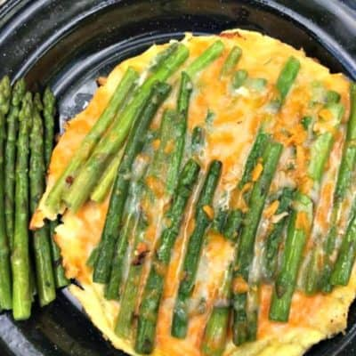 Cheese Asparagus Omelette