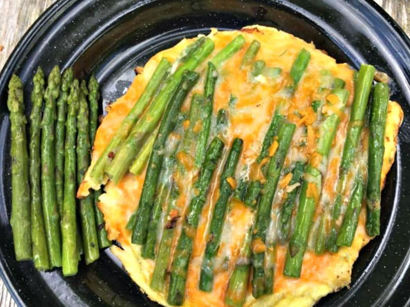 Asparagus and Cheddar Omelettes