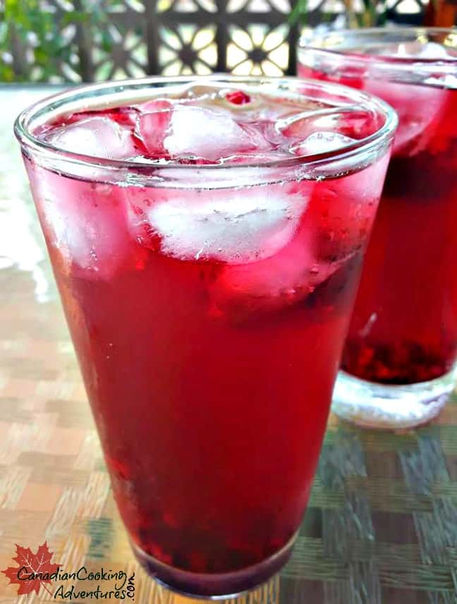 Iced Raspberry Hibiscus tea