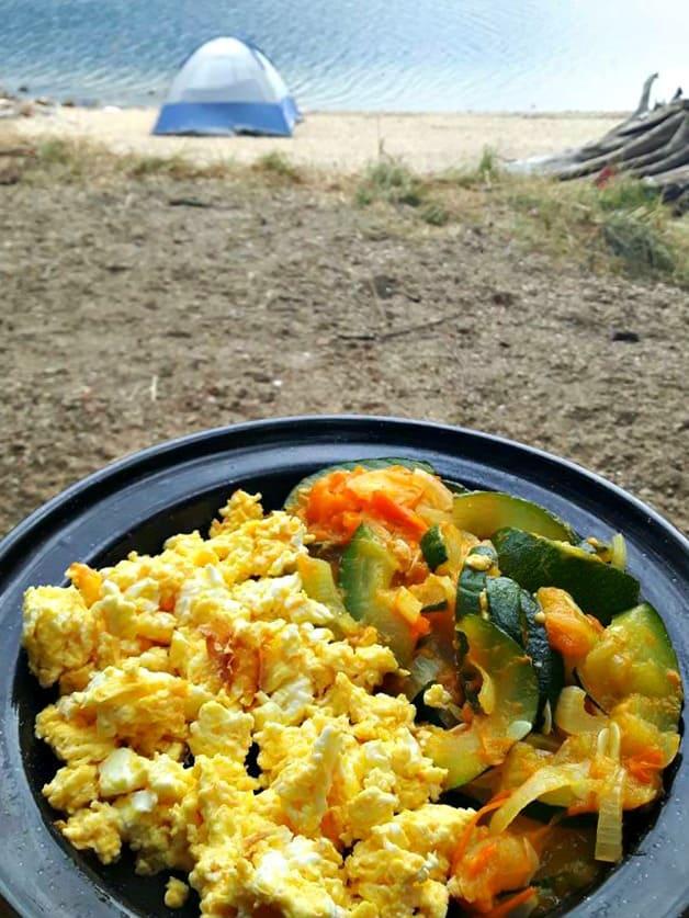 Cheesy Egg and Zucchini Scramble