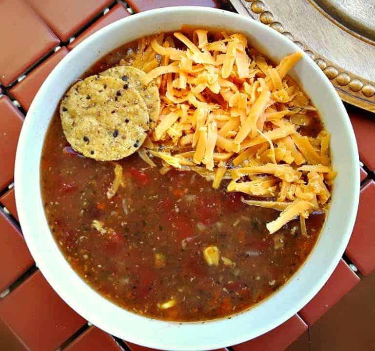 Chicken Fajita Tortilla Soup (Slow Cooker)