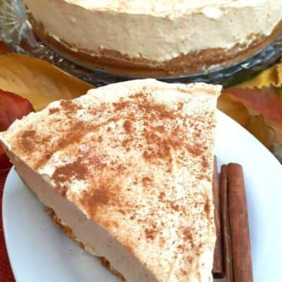 Frozen Pumpkin Spiced Cheesecake (No Bake)