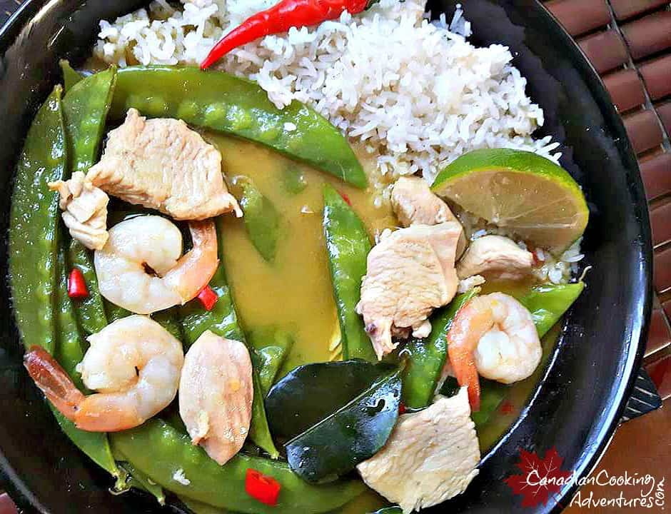 how to make green curry chicken video