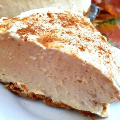 Recipe for Frozen Pumpkin Spiced Cheesecake (No Bake)