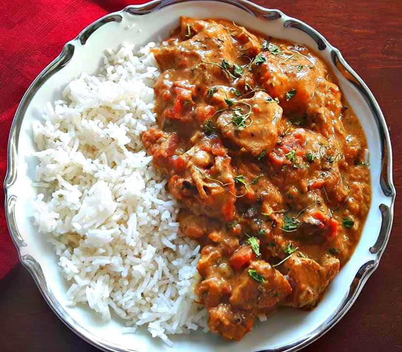 Spicy Coconut Potato Chicken Curry