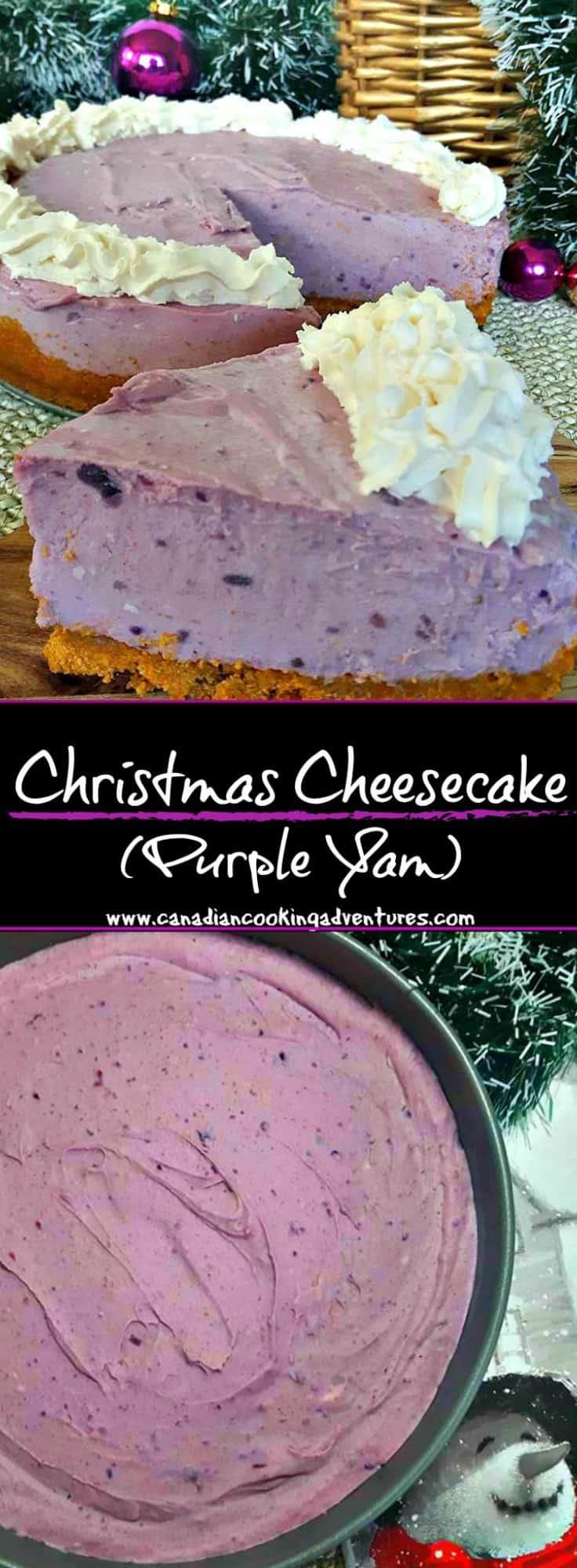 Christmas Cheesecake (Purple Yam)