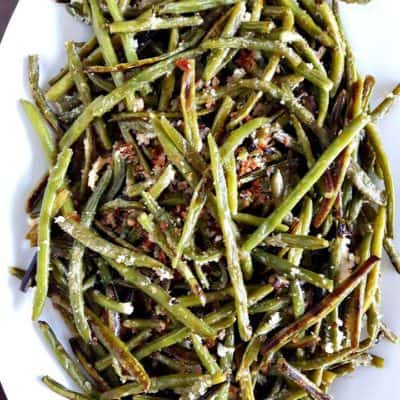 Parmesan baked green beans