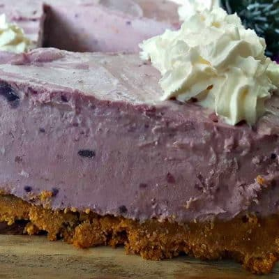 Christmas Cheesecake (Purple Yam)