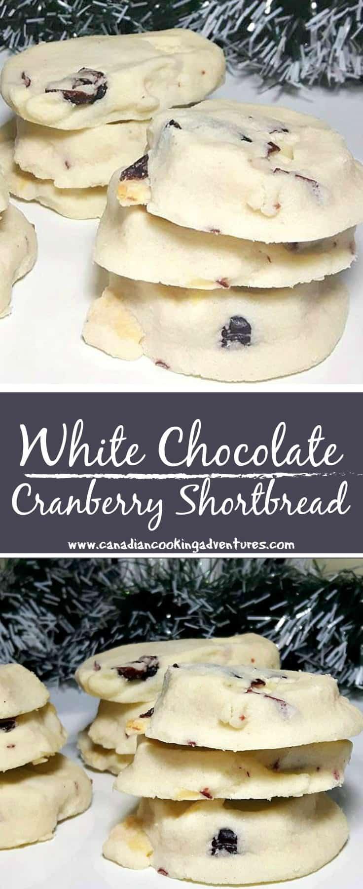 White Chocolate Cranberry Shortbread