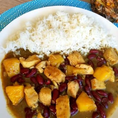 Caribbean Chicken with Pineapple and Beans