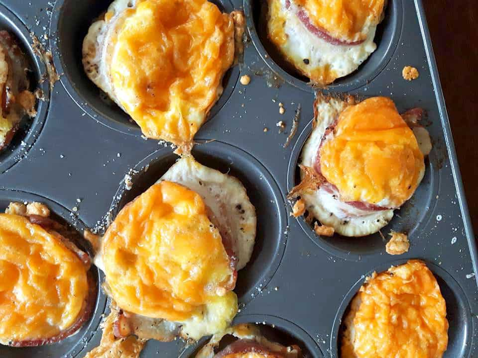 Canadian Bacon and Egg Breakfast cups