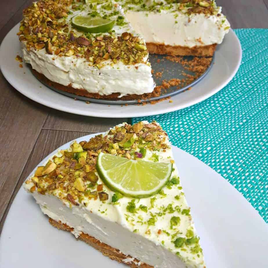Key Lime Cheesecake with Pistachios
