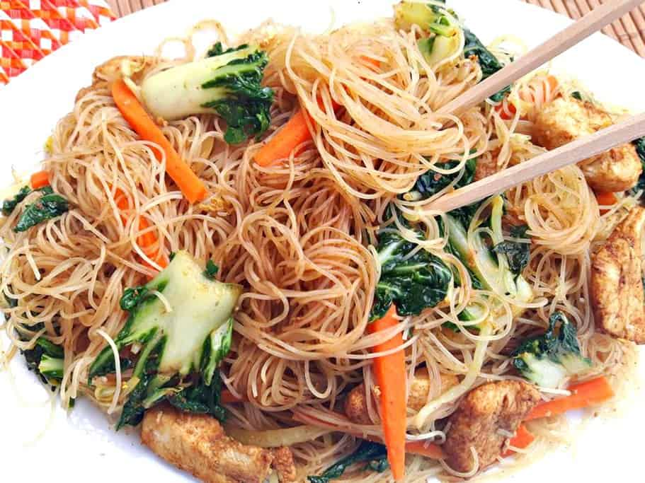 Singapore Chicken Noodles