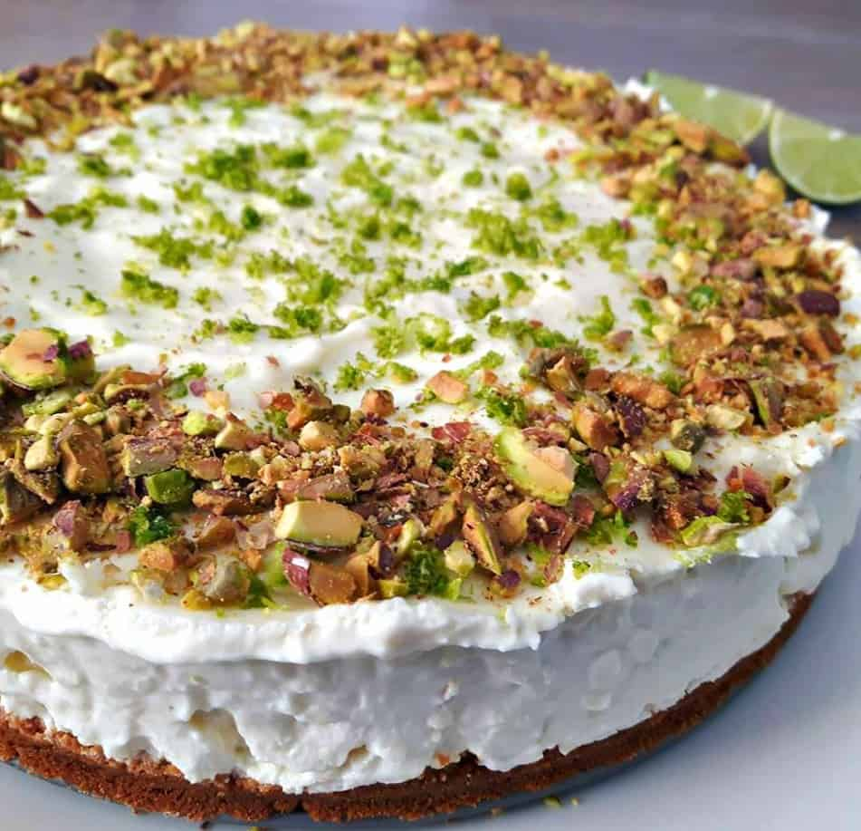 Key Lime Cheesecake with Pistachios crust