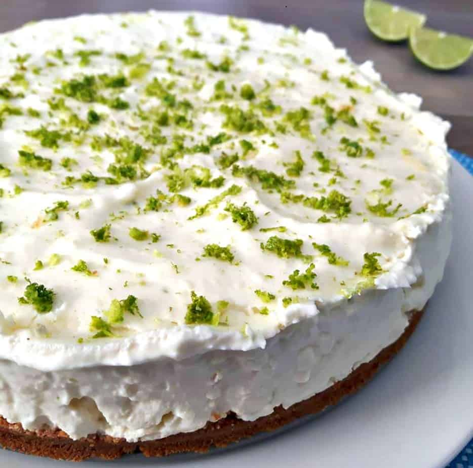 Key Lime Cheesecake with lime zest