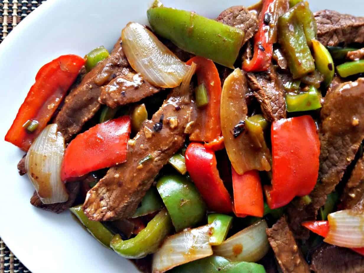Black Bean & Beef Vegetable Stir fry