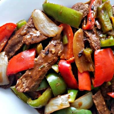 Black Bean & Beef Vegetable Stir fry