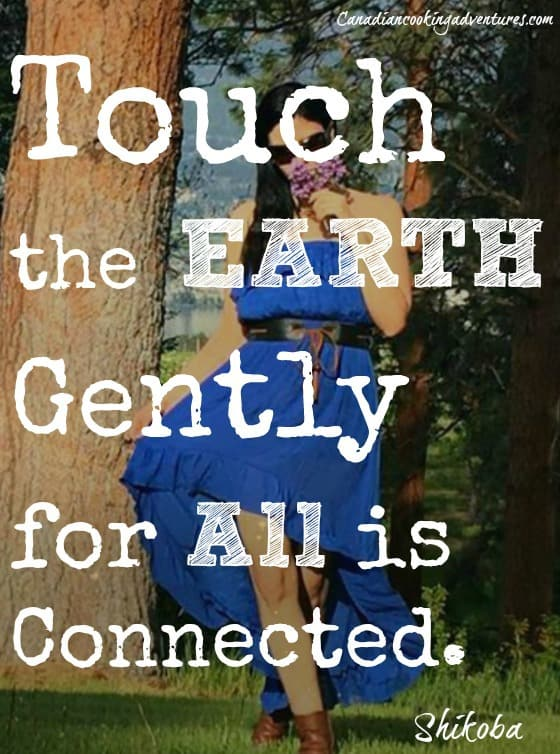 touch the earth gently for all is connected