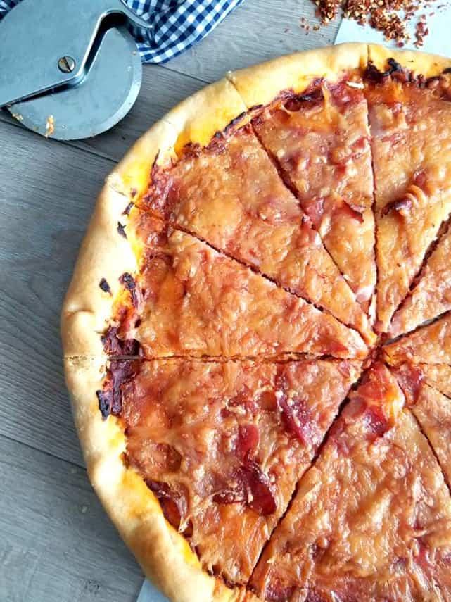 Prosciutto and Spicy Capicola Pizza