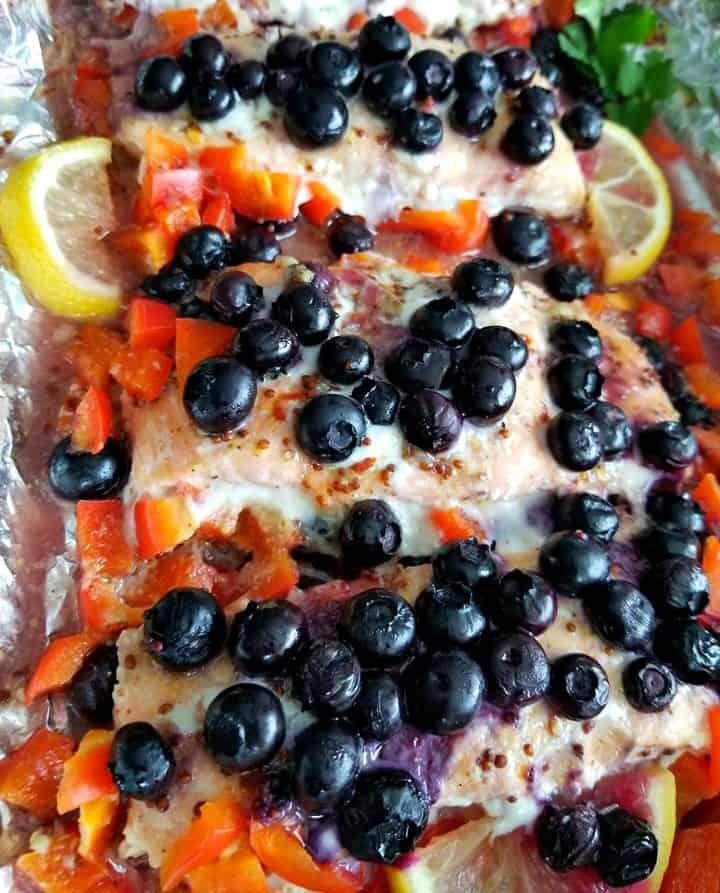 Blueberry Honey Mustard Salmon