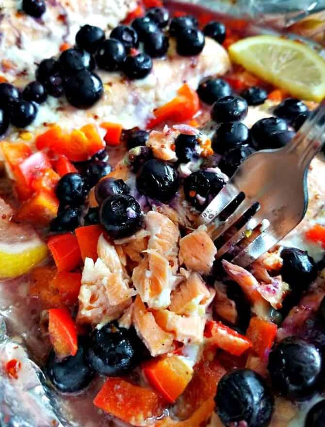 Blueberry, Honey, Mustard Salmon