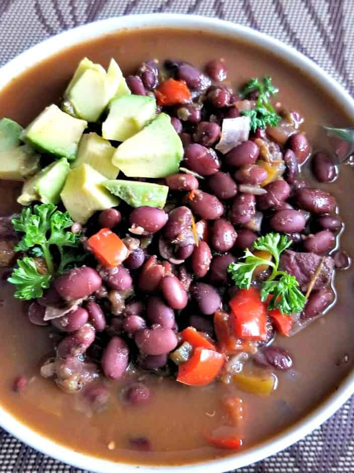 Mexican Black Bean and Chicken Soup