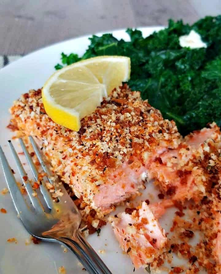 Crispy Herb Crusted Salmon
