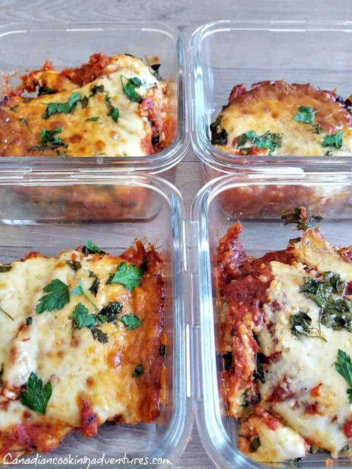 Eggplant Parmesan Meal Prep Bowls