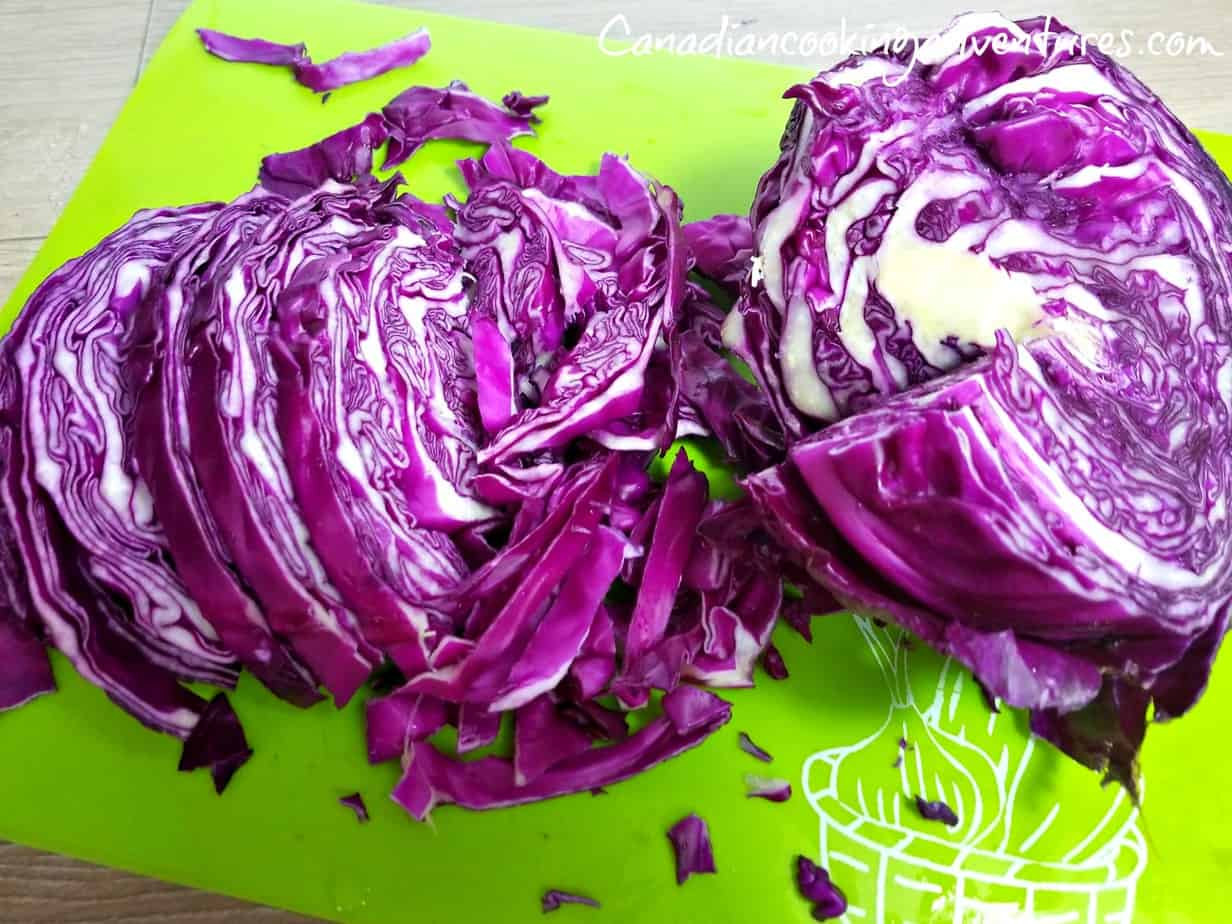 Slicing the Red Cabbage