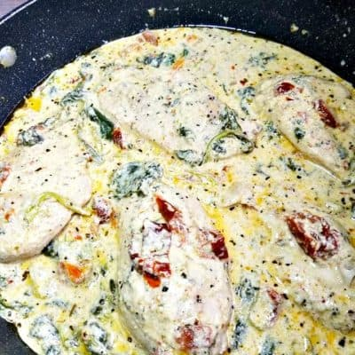 Spicy Tuscan Chicken #tuscan #chicken #spicy #creamy