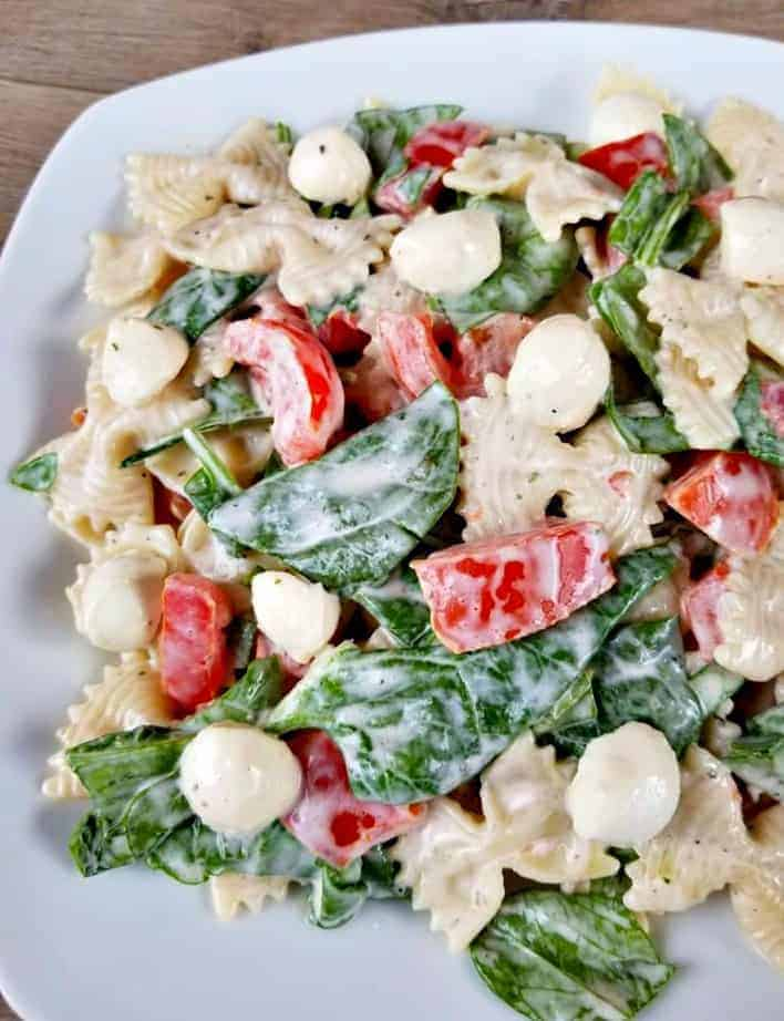 Ranch Caprese Pasta Salad