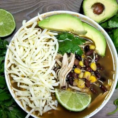 Green Chile Chicken Bean Soup