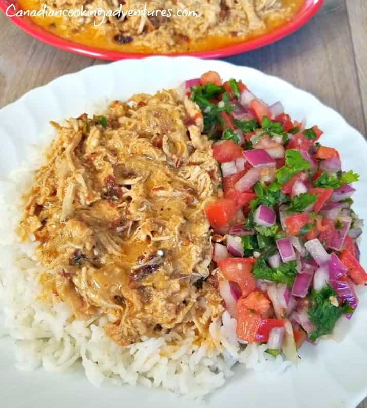 Mexican Pulled Pork over rice with salsa fresca