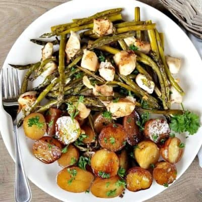 Balsamic Chicken with Roasted Vegetables
