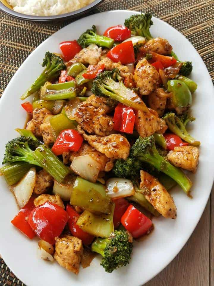 Black Pepper Chicken Stir Fry
