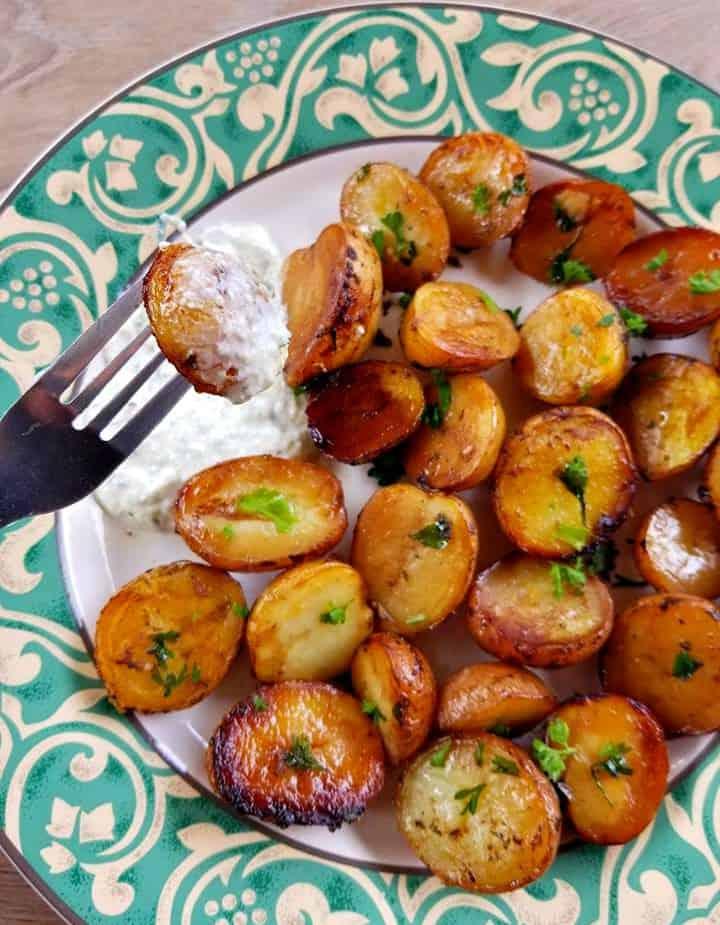 baked mini potatoes