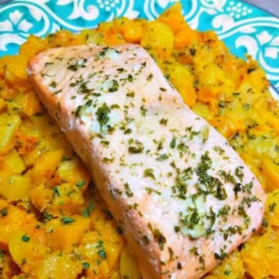 Salmon with Butternut squash