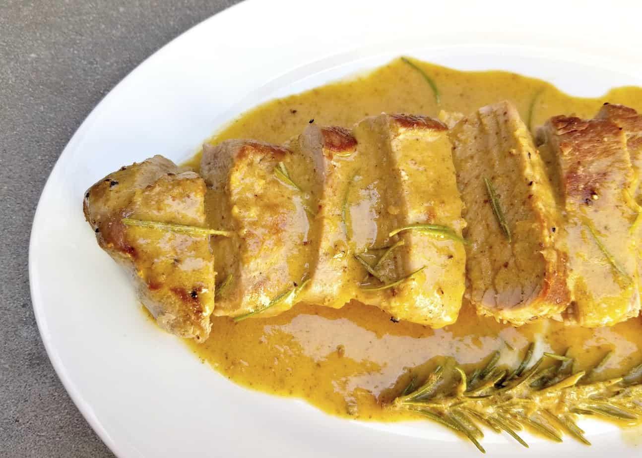 Creamy Mustard Pork Tenderloin