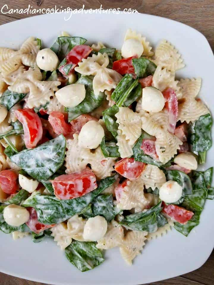 Ranch Caprese Pasta Salad