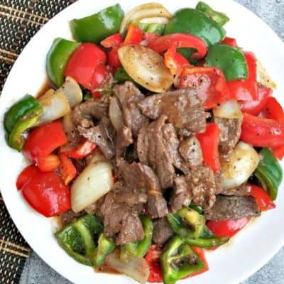 Chinese Beef Pepper Steak