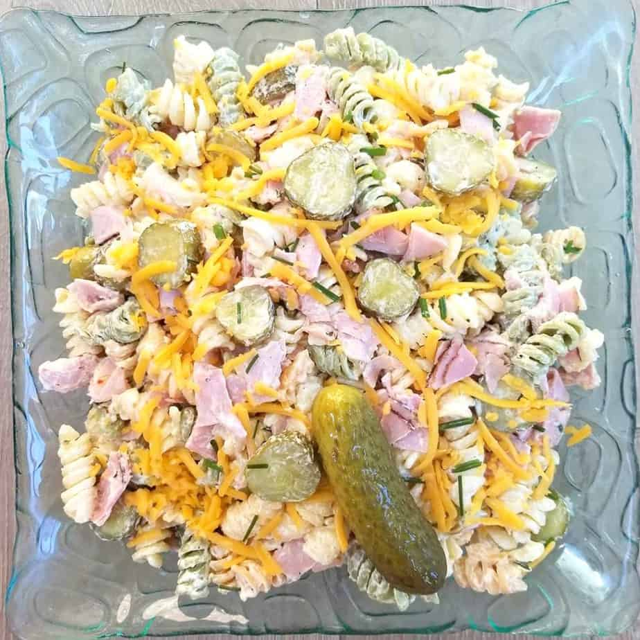 Dill Pickle & Black Forest Pasta Salad