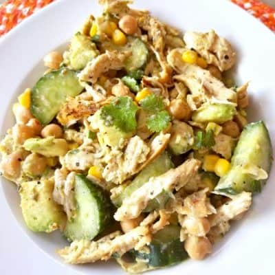 Chicken Avocado Chickpea Salad