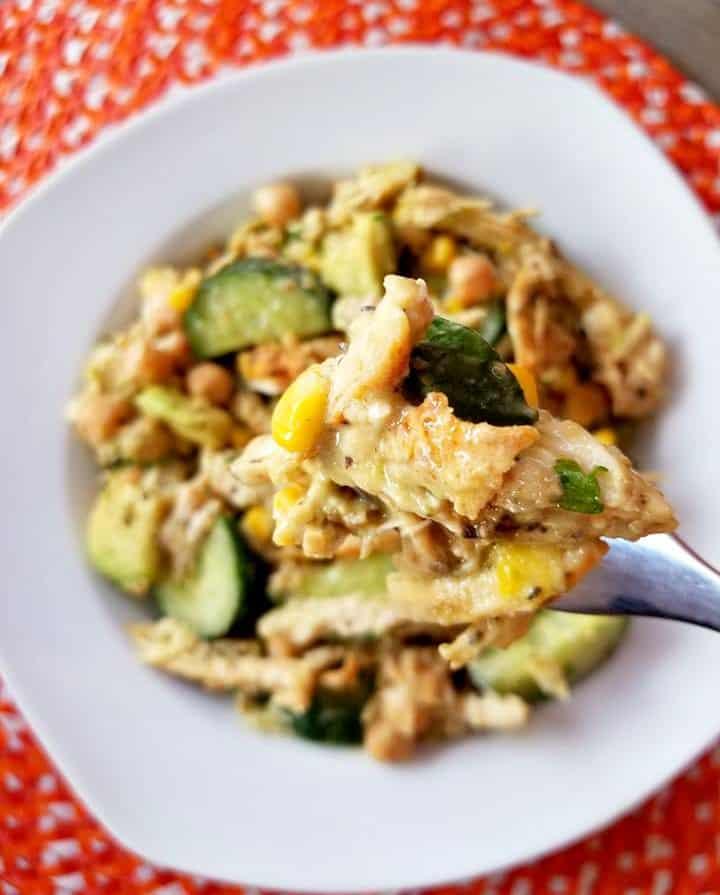 Chicken Avocado Chickpea Salad